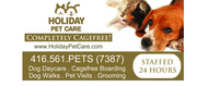 Holiday Pet Care Boarding -- The Cagefree Alternative!